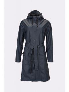 Dames-Regenjas-RAINS-Curve-donkerblauw-voorkant