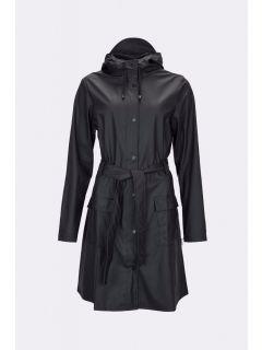 Dames-Regenjas-RAINS-Curve-zwart-voorkant