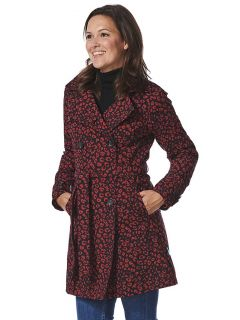 Trenchcoat-Happy-Rainy-Days-Rena-rood-zwart-model-close-voor