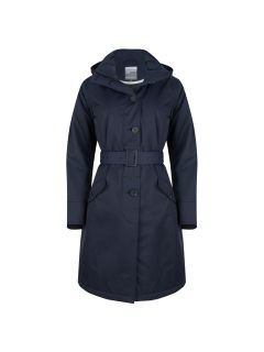 dames-winter-parka-regenjas-blauw-happy-rainy-days-malaga-voor