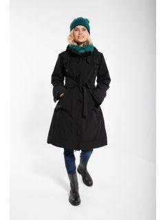 Danefae-Winter-Regenjas-Dames-Else-zwart-modelvoor