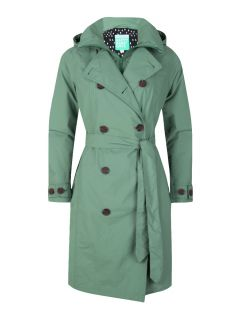 HappyRainyDays-trenchcoat-rits-Dames-groen-gaby
