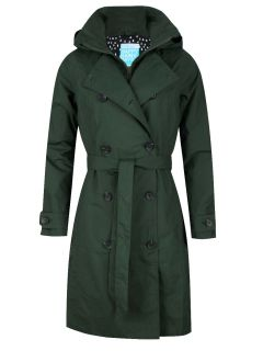 HappyRainyDays-Trenchcoat-Rits-Dames-Groen-Gwen
