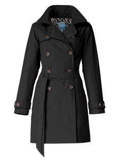 Dames-regentrenchcoat-Happy-Rainy-Days-zwart-Bowie-voorkant