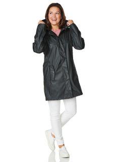 HappyRainyDays-Regenjack-pu-Dames-Zwart-Bodee-model