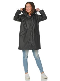 hrd-dames-regenjas-coat-zwart-bodee-model