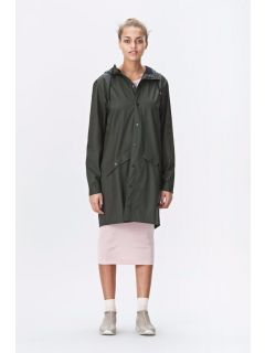 rains long jacket legergroen