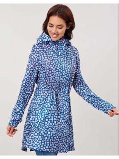 opvouwbare-dames-regenjas-joules-golightly-blauw-madeliefjes-model