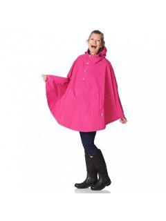 Regenponcho-happy-rainy-days-birgit-fuchsia-roze-voorkant
