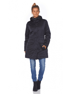 Dames-winterparka-Happy-Rainy-Days-donkerblauw-Marocco-midnight-voorkant-model