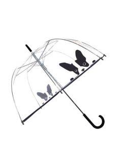 Transparante paraplu met schattig hondje