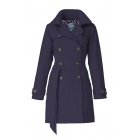 Dames-regentrenchcoat-Happy-Rainy-Days-navy-Nena-voorkant