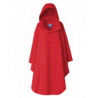 Dames-bikecape-Happy-Rainy-Days-Rosa-rood-voorkant