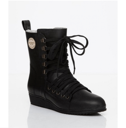 Lace up Boot Black | Hipinderegen.nl